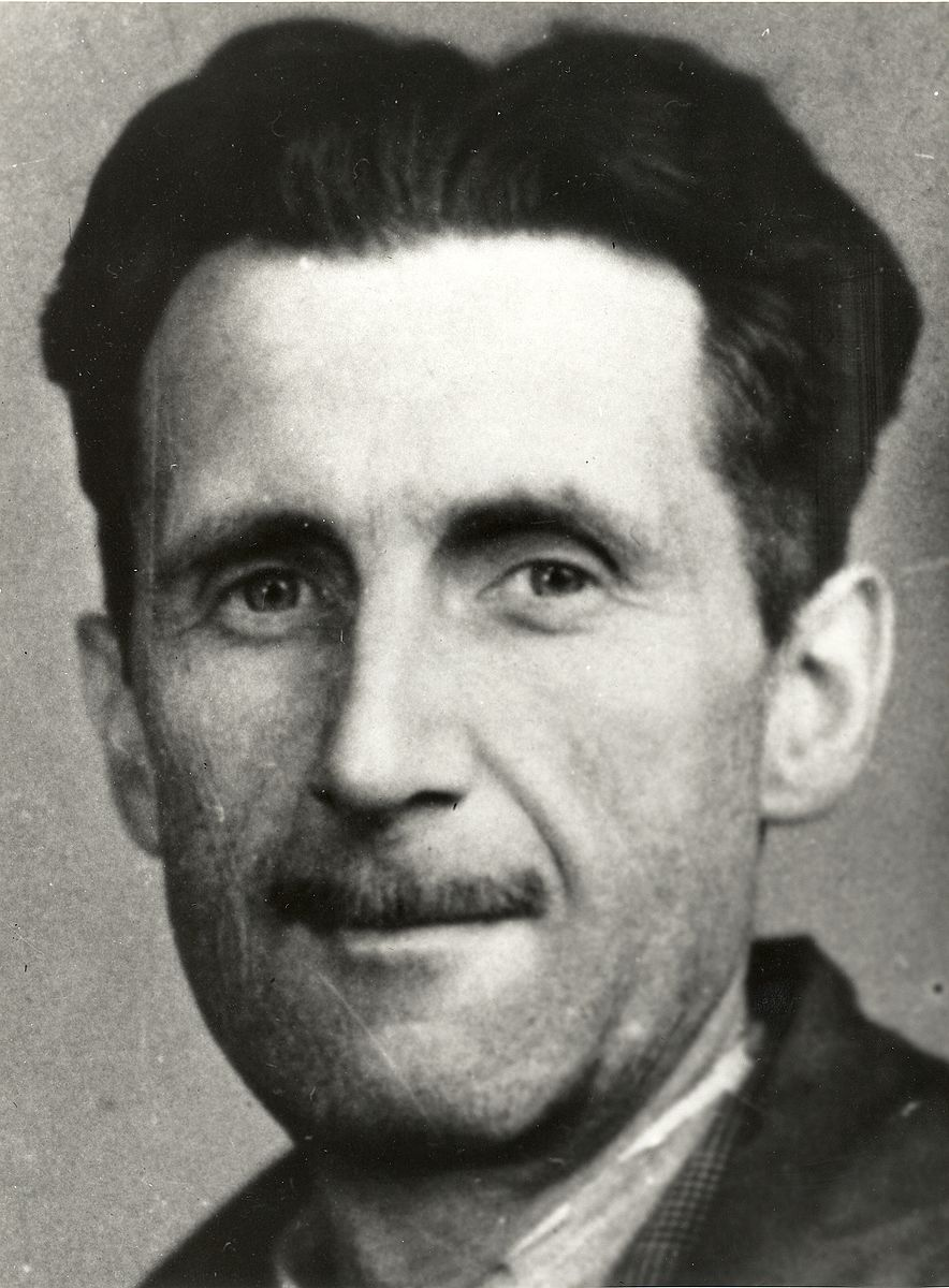 Picture of George Orwell which appears in an old accreditation for the BNUJ.