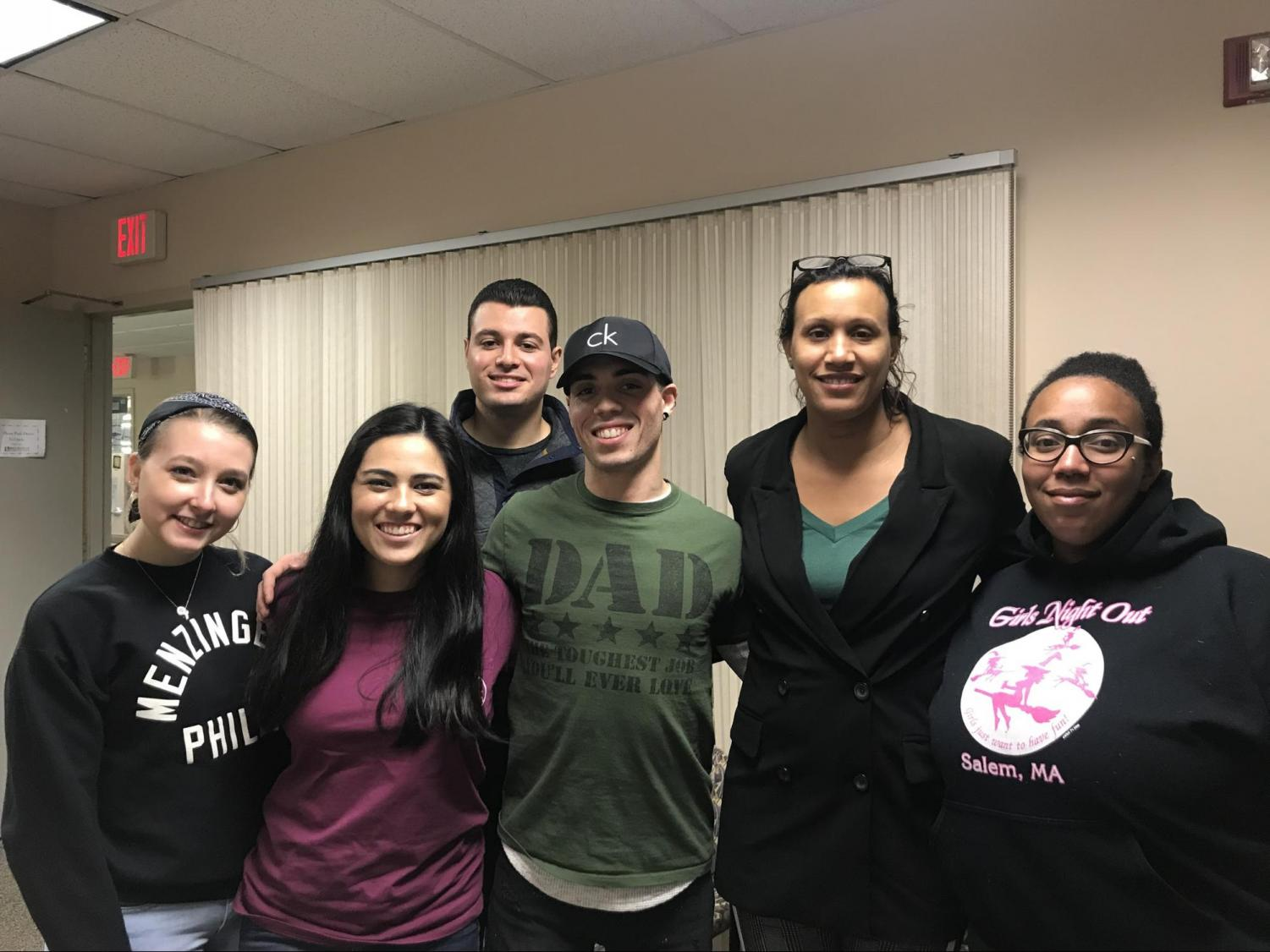 Dr. Nicole Jackson Walker poses with some students who attended her session on the opioid epidemic.  Photo by Corine Tamayo.