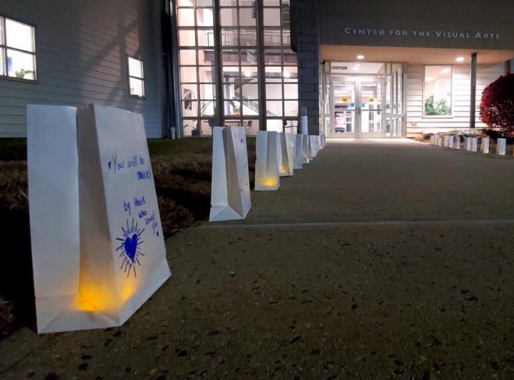 There+were+memorial+lanterns+put+outside+CVA.+